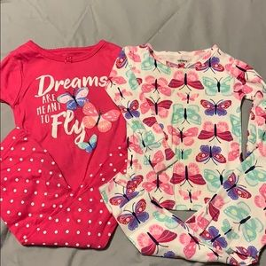 Carter butterfly mix and match pjs